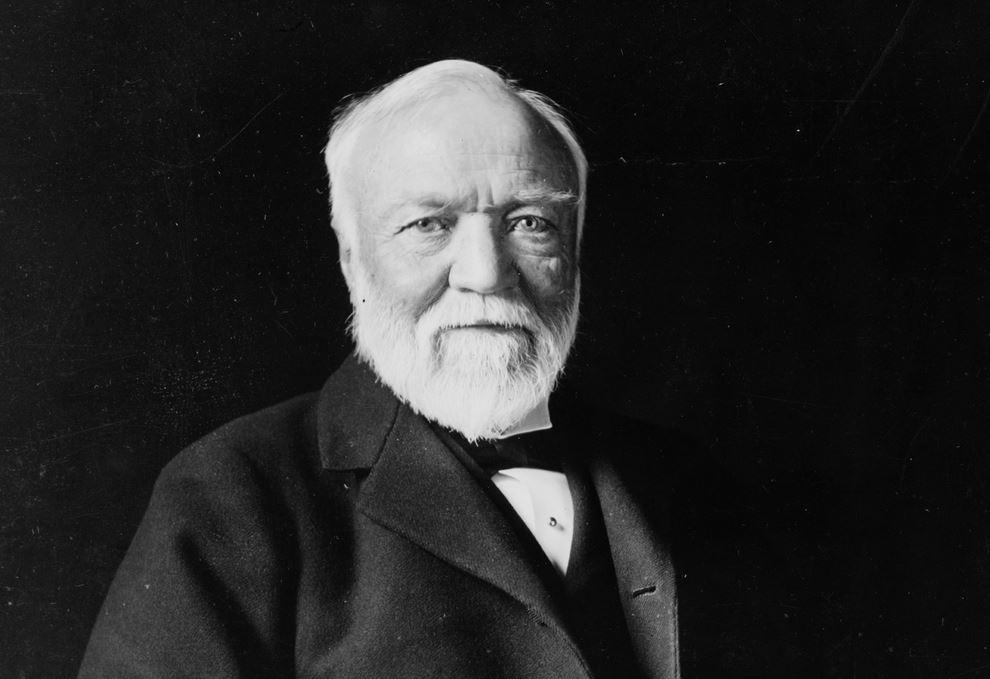 Billionaire producer turned philanthropist Andrew Carnegie